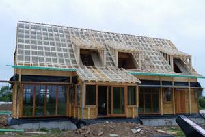 Caissons de toiture isolants cmp bois for Constructeur maison belge