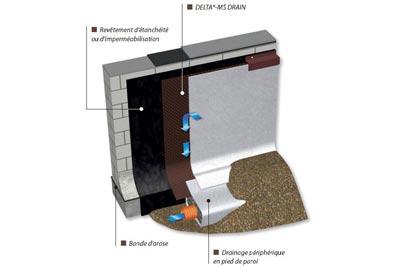 Delta ms drain protection et drainage cmp bois - Delta ms castorama ...