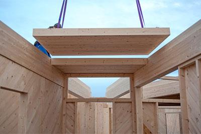 Un b timent en lame de scie cmp bois for Batiment structure bois