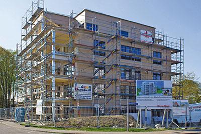 Weberhaus livre un immeuble bois de cinq tages cmp bois for Immeuble bureaux structure bois