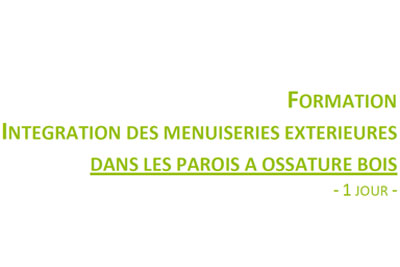 Formation bois menuiserie