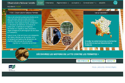 actualisation de l 39 observatoire national des termites cmp bois. Black Bedroom Furniture Sets. Home Design Ideas