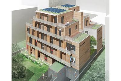 Un nouvel immeuble r 4 en bois dans paris cmp bois for Immeuble bureaux structure bois