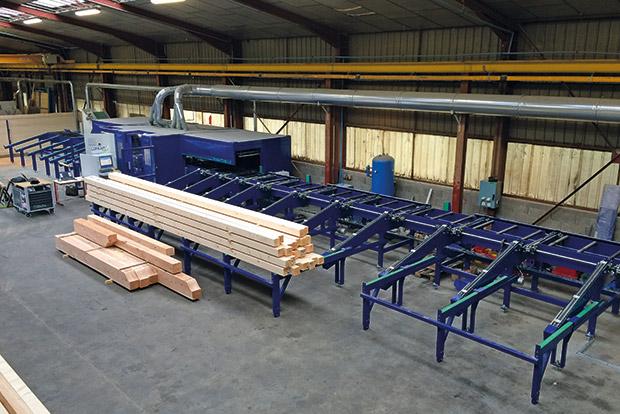 Le fabricant de machines Ceica a installé son premier centre d'usinage de charpentes Concept 345 Maxi'Taille en Savoie
