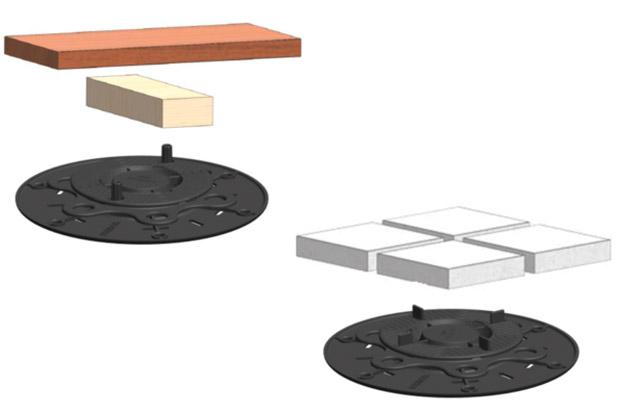 solidor lance ses plots de terrasse premium cmp bois. Black Bedroom Furniture Sets. Home Design Ideas