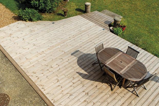 Terrasse En Pin Thermo Traité