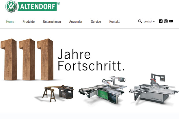 Altendorf machines 111 ans de scies à format
