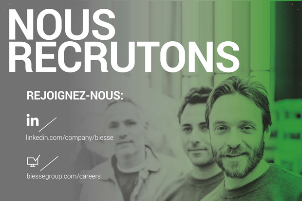Biesse France recrutement techniciens maintenance