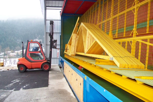A2C gammes de cabines de traitement bois par aspersion